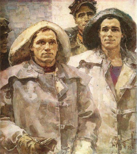 """Непринцев Ю. М. """" Метростроевцы-проходчики"""" 1959"""