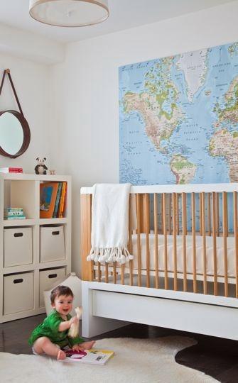 Une carte du monde pour décorer une chambre d'enfant