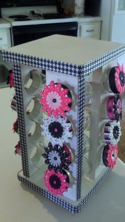 Spice rack converted for classroom use for paperclips, thumbtacks, staples...etc - oh my word, so cute! by shelly.m.baker