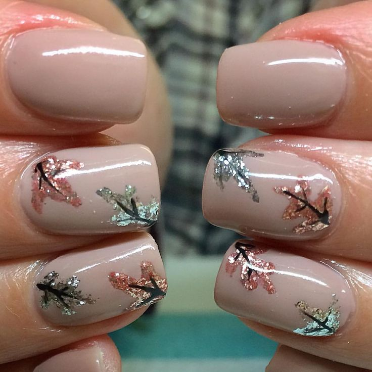 """Neutral Autumn Fall Nail Art - Kayley Cairns (@nailykayley) on Instagram: """"This is a perfect autumnal set recreated from an image found online. #nails #nailart #autumnnails…"""""""