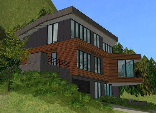 The sims 1 modern house