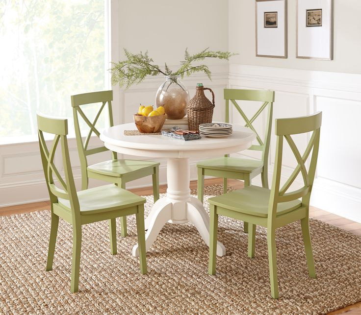 Furnitures Fashion Small Dining Room Furniture Design: Summer Breeze Dining Collection: This Classic White