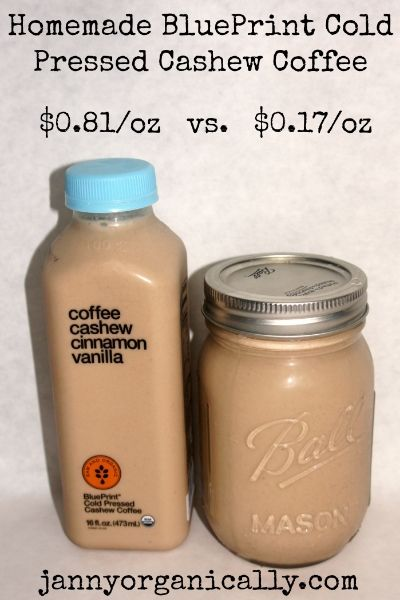 Copycat recipe for Organic Blueprint cashew drinks! Minus the agave.