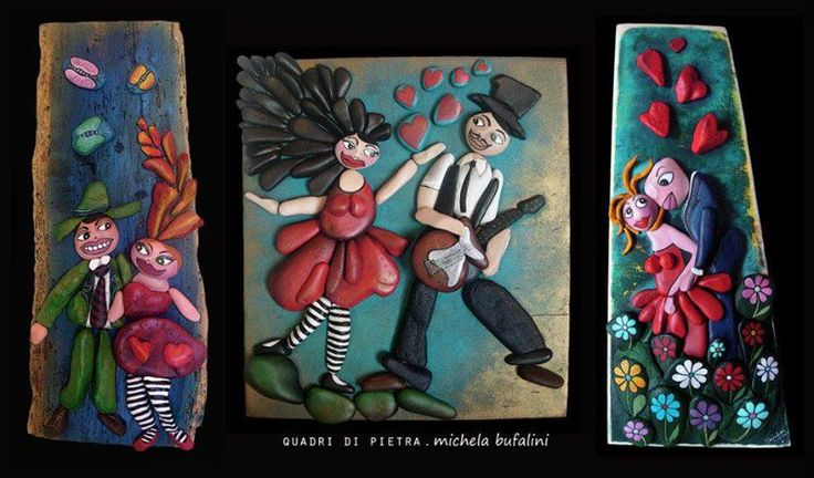 Rock art by Michela Bufalini. Stunning idea