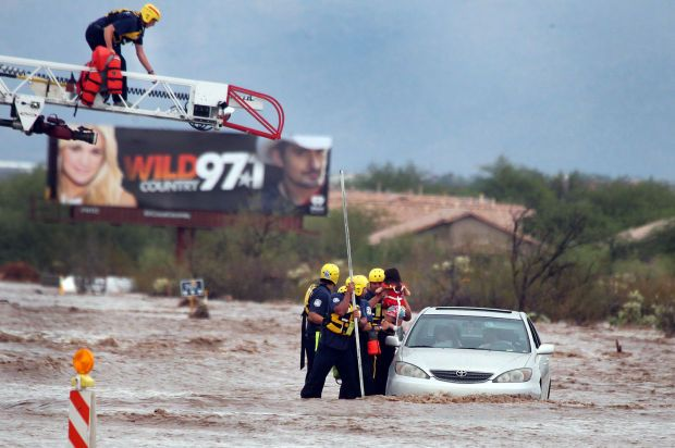This Tucson family learned today about the power and danger of flash floods during the monsoon season.