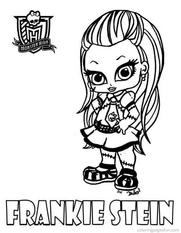 ra monster high colouring pages - Monster High Chibi Coloring Pages