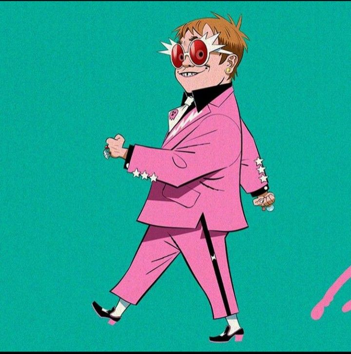 Pin By Zonks On Sir Elton John Elton John Costume Gorillaz Art Elton John