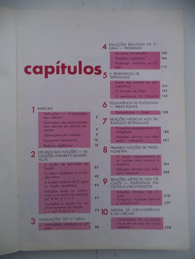 matemática renovada 8ª série ginásio 1973 = scipione pierro