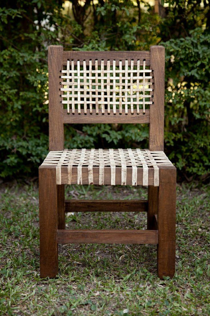 Sillita matera madera y cuero muebles de campo for Muebles de oficina tucuman 1564