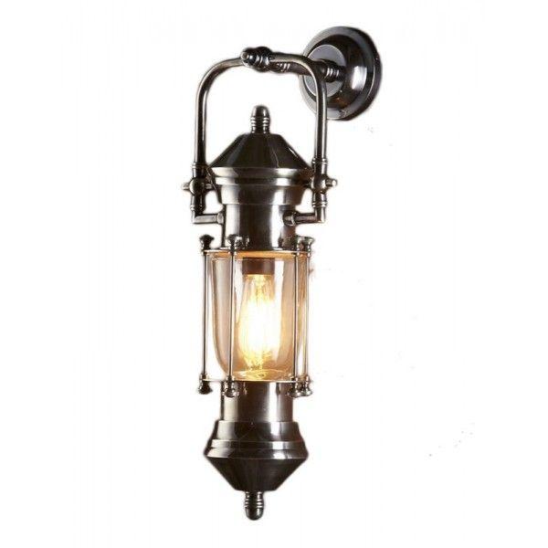 Antique Lantern Wall Light - Lisbon Ship Lantern Antique Silver