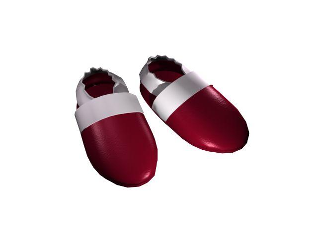 Puhatalpú babacipő színek - Burgundi vörös
