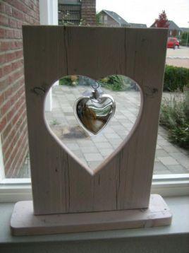 ≥ mooie steigerhouten hart raamdecoratie - Woonaccessoires | Lijsten - Marktplaats.nl