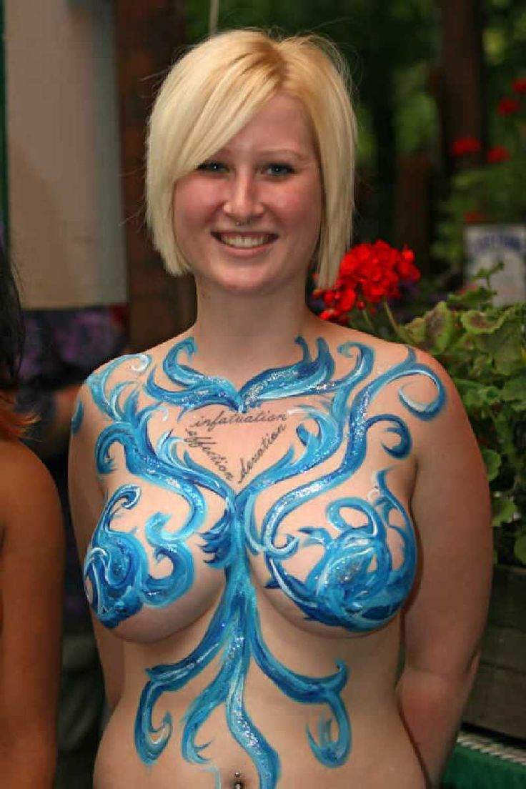 very hot women in body paint nude