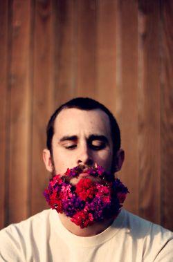 GENIUS. Flower beards > anything.  (via neutralmilk) by tumblr's bucketofplans