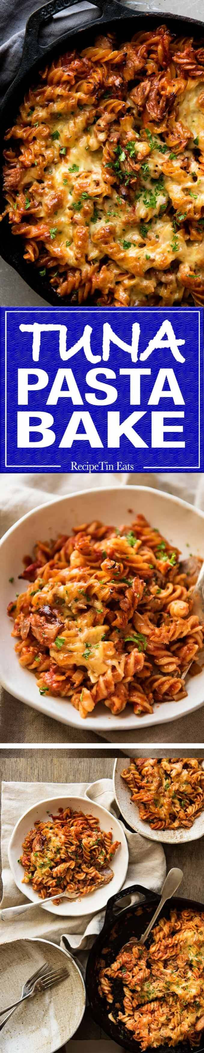 Everybody should know how to make a truly delicious Tuna Pasta Bake, for all those times when your cupboards are bare! www.recipetineats.com