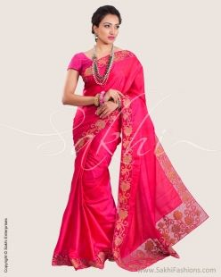 Pink & Gold Pure Kanchivaram Silk Saree