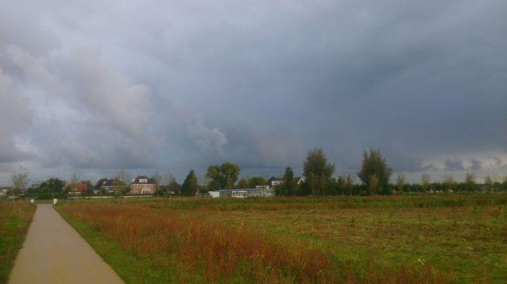 Buien in de lucht mooie kleuren ,sept 2017