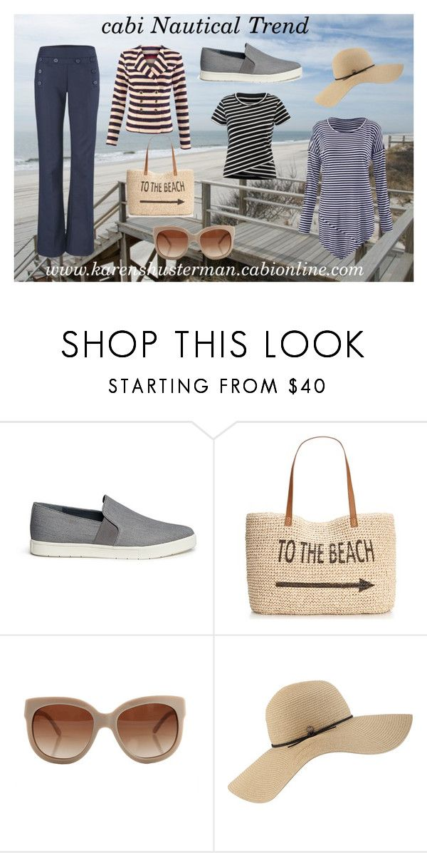 """Nautical Trend"" by shustill on Polyvore featuring CAbi, Vince, Style & Co., STELLA McCARTNEY, Coal, women's clothing, women, female, woman and misses"