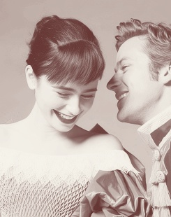 Lilly Collins and Armie Hammer