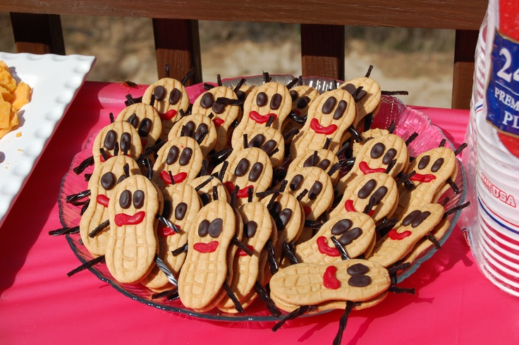 Oski Bugs Made Out Of Nutter Butter Cookies Black