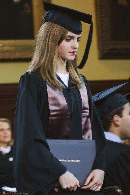 Emma Watson à la remise des diplômes