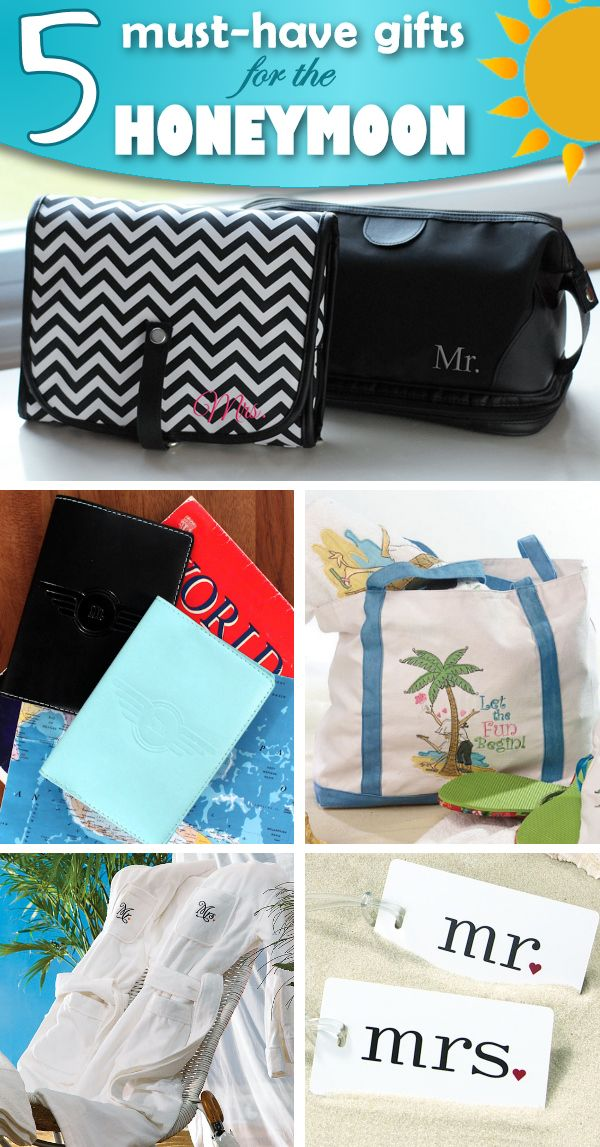 Fun gifts for the new Mr. & Mrs. - check out these 5 must have ideas for the Honeymoon!