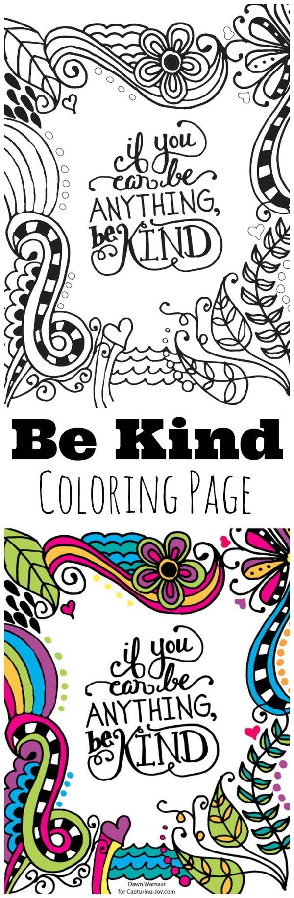R truth coloring pages - Be Kind Kids Coloring Page Great For Kids To Help Encourage Kindness Hang On