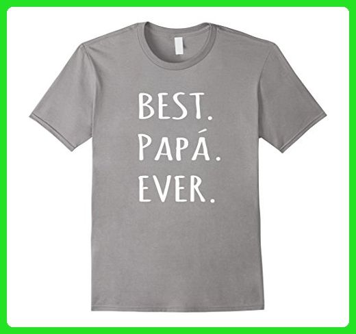Mens Best Papa Ever tshirt with acute accent Spanish Dad t shirt Medium Slate - Relatives and family shirts (*Amazon Partner-Link)