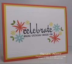 Stampin' Up! Flower Patch, Flower Fair fraelits, photopolymer Fabulous Four
