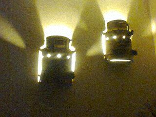The milk cans against the wall as lights! Awesome!