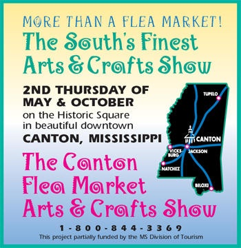 Canton MIssissipps Flea Market Arts & Crafts Show held on 2nd Thursday every May and October. This is such an awesome event!