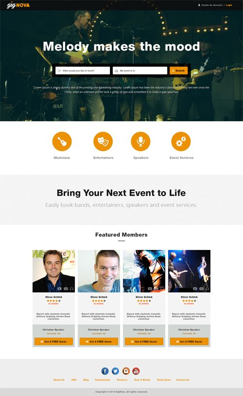 Explore the snapshot of Gig Nova website designed and developed by Accenza.....