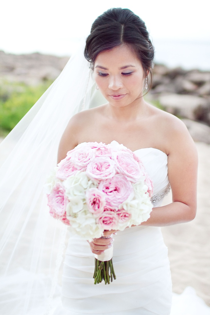 Pink Garden Rose And Hydrangea Bouquet 190 best kaitlins flowers images on pinterest | branches, marriage