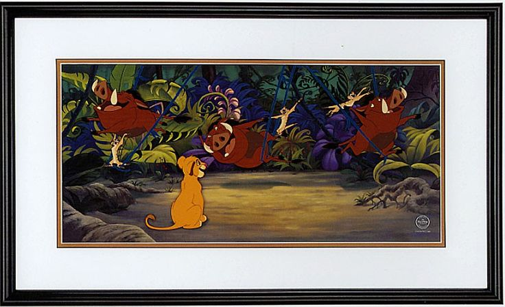 The Lion King - Jungle Swing - Sericel - World-Wide-Art.com - #disney #lionking