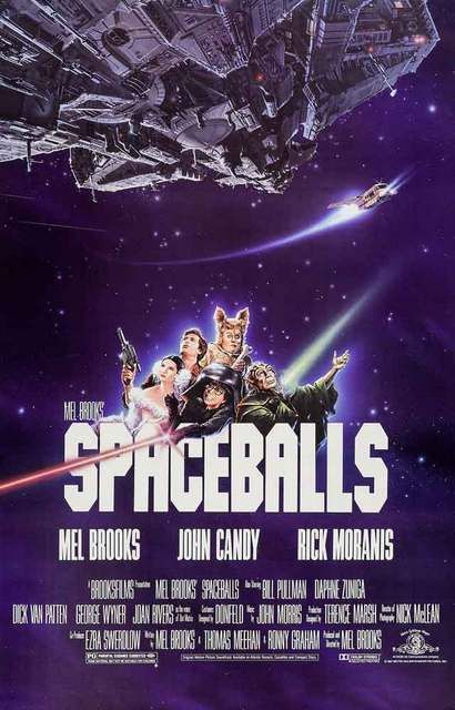 A great poster! Mel Brooks, John Candy, and Rick Moranis star in the classic 1987 Star Wars parody film Spaceballs! May the farce be with you... Ships fast. 11x17 inches. Need Poster Mounts..?
