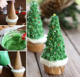 DIY Christmas Tree Cupcakes Recipe