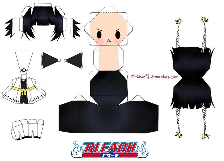 Anime Papercraft Templates | Papercraft Anime Chibi: Papercraft