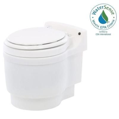 Laveo Dry Flush Chemical Free Odorless Portable Lightweight Electric Waterless Toilet-DF1045 - The Home Depot