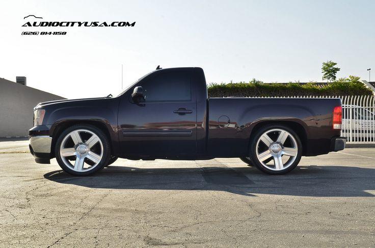 "24"" Texas Edition wheels on 2009 GMC Sierra single cab **LOWERED**"