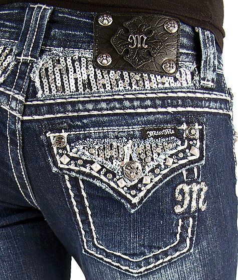 Miss Me Sequin Flare Stretch Jean #buckle #fashion #jeans www.buckle.com