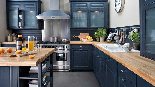 Best 25 cuisine noir laqu ideas on pinterest unit s de - Customiser cuisine rustique ...