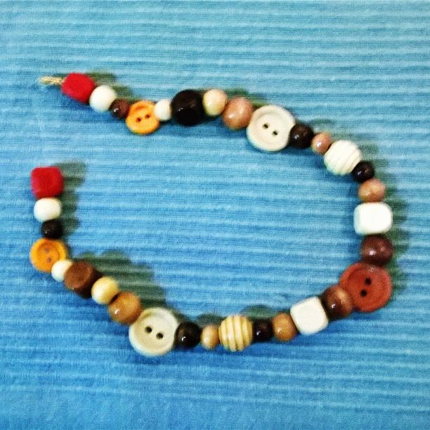 Hand made button necklace !