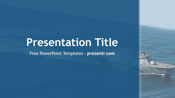 Ship Powerpoint Templates And Backgrounds  Free Blue Powerpoint
