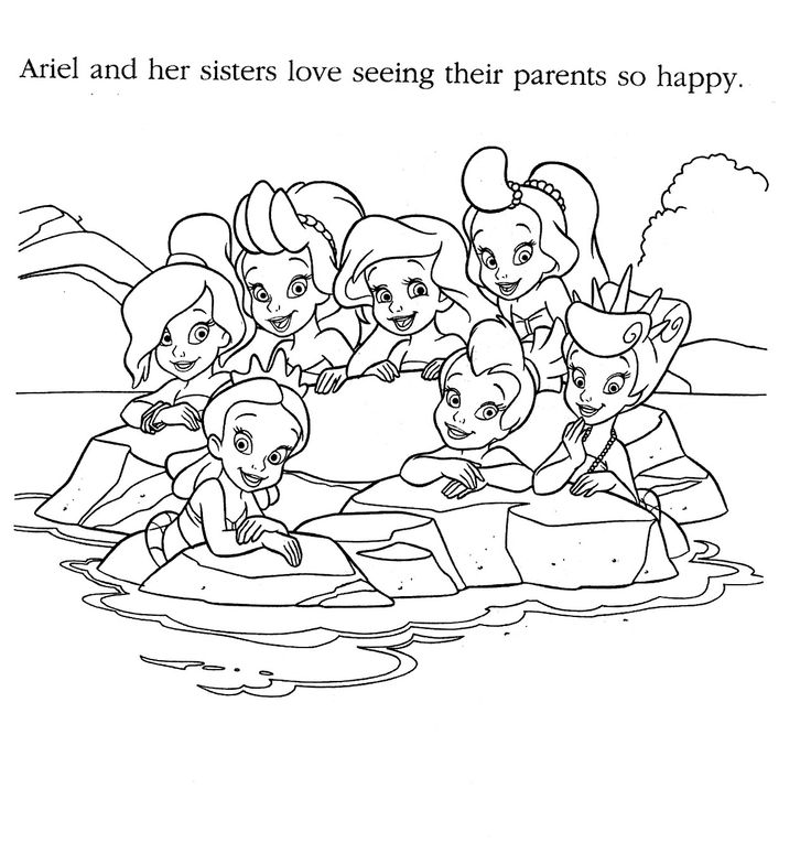 Coloring Book Pages Ariel