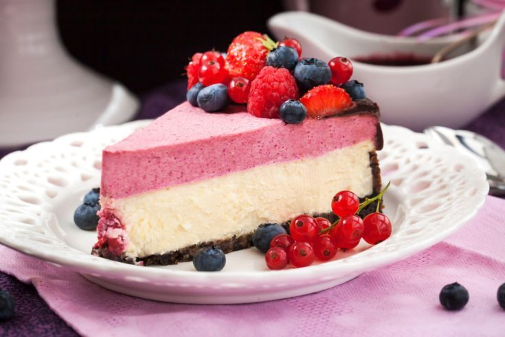 Malinový cheesecake