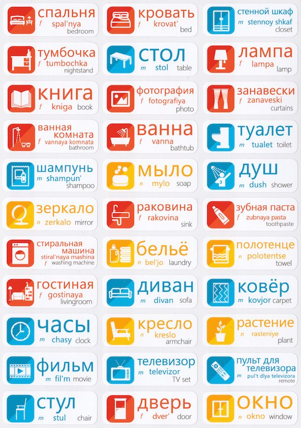 Russian Language Stickers                                                       …