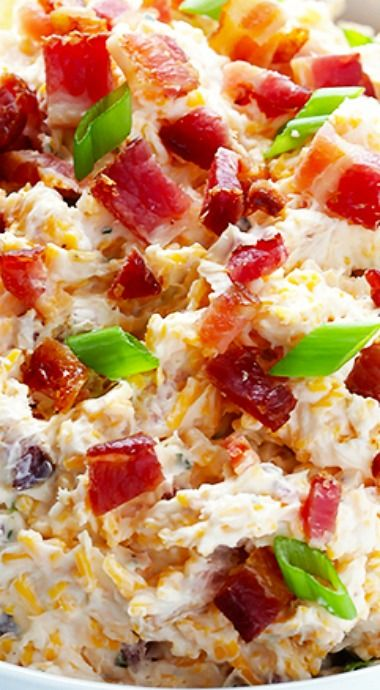 5-Minute Cheddar Bacon Ranch dip