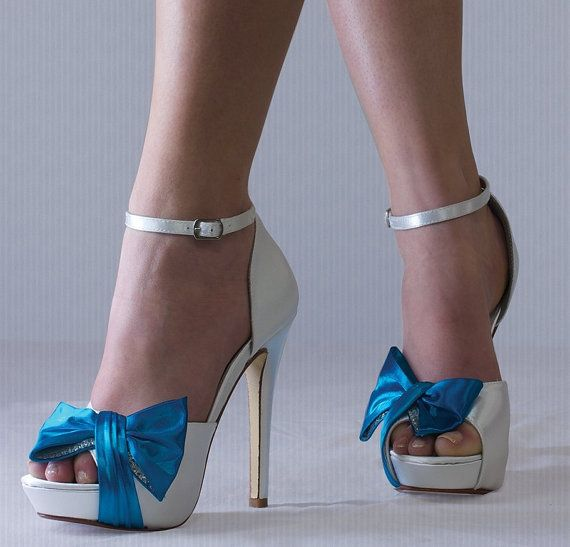 Wedding Shoes Tiffany Blue Color Wedding Shoes 4 Heel by Pink2Blue