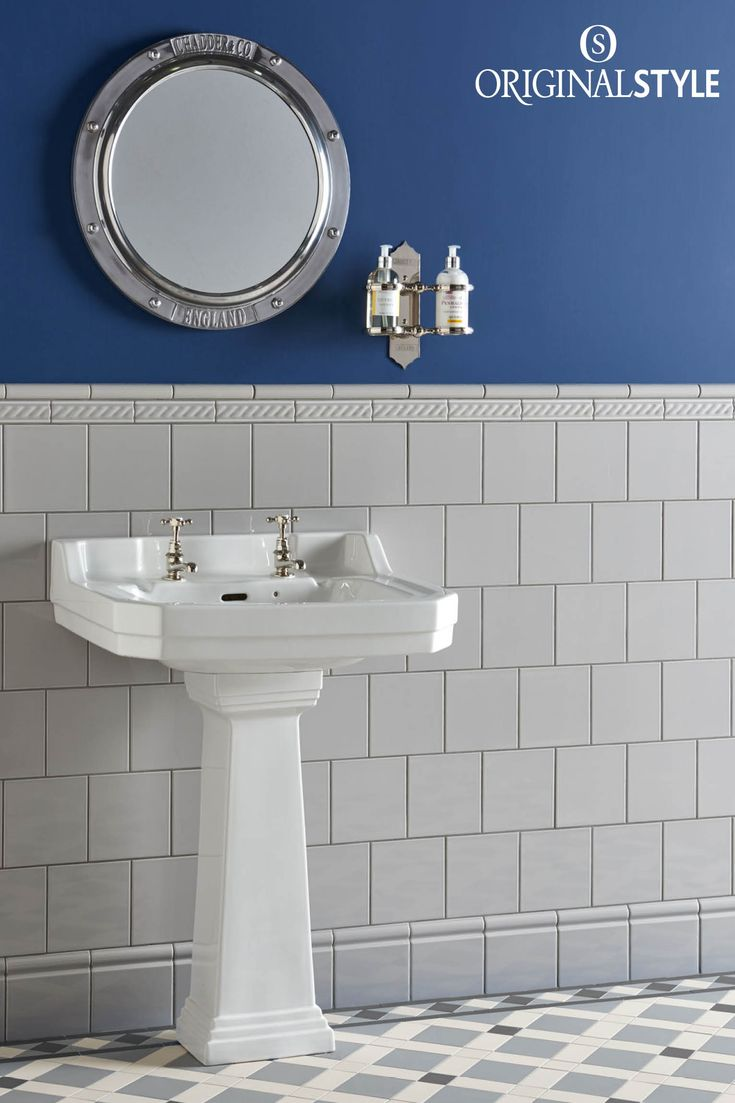 Wall tiles by Original Style, Artworks Range, Westminster Grey Field Tile. Create a calm and harmonious bathroom with Westminster Grey. Suitable for both modern and classic styles.