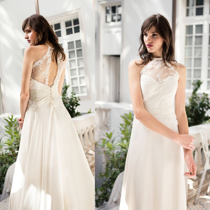 Vestido de novia cuello halter · Halter wedding dress